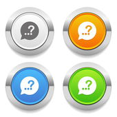 Help-chat icons — Stock Vector