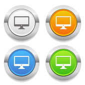 Monitor icons — Stock Vector