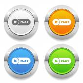 Play icons — Stock Vector