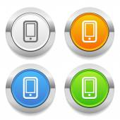 Phone icons — Stock Vector