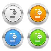 Short message icons — Stock Vector