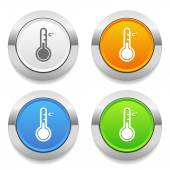 Thermometer icons — Stock Vector
