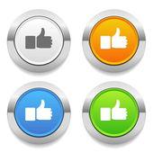 Thumb icons — Stock Vector