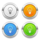 Bulb icons — Stock Vector