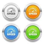 Speed-meter icons — Stock Vector