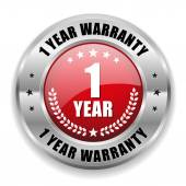 1 year warranty button — Stock Vector