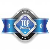 Silver  top quality badge — Stock Vector