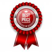 Best price badge with silver border — Stock Vector