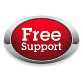 Free support badge — Wektor stockowy
