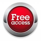 Кнопка бесплатный доступ — Cтоковый вектор