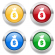 Buttons with money icons — Stock Vector #57542403