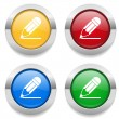 Buttons with pencil icon — Stock Vector #57542555