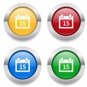 Buttons with calendar icons — Vector de stock