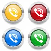 Buttons with phone ring icons — Stock vektor