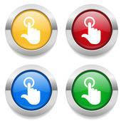 Buttons with  touch icons — Stock Vector