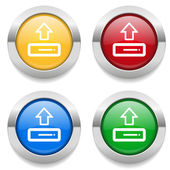 Buttons with  upload icons — Stock Vector