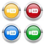 USB Flash drive 3.0 icons — Stock Vector