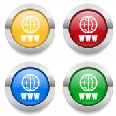 Buttons with  internet icons — Stock Vector