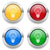 Buttons with bulb icon — Stock Vector