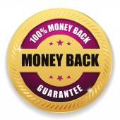 Money back badge — Stock Vector