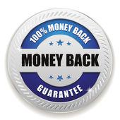 Hundred percent money back badge — Stock Vector