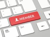 Member button — Stock Photo