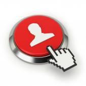 Knop met gebruiker pictogram — Stockfoto