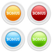 Buttons with bonus sign — Wektor stockowy