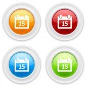 Buttons with calendar icons — Vetor de Stock