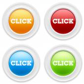 Buttons with click icon — Stock Vector