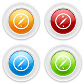 Buttons with compas icons — Stock Vector