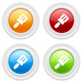 Buttons with tool icons — Stock Vector