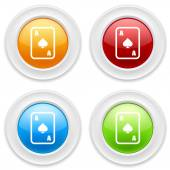 Buttons with ace peak icons — Stock Vector