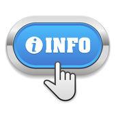 Botón info con cursor — Vector de stock