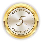 5th anniversary badge — Stock Vector