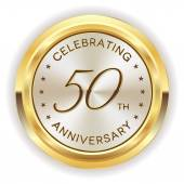 50th anniversary badge — Stock Vector