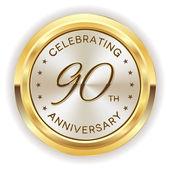 90th anniversary badge — Stock Vector