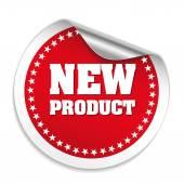 Round New Product Sticker — Stok Vektör