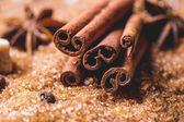 Spices and sugar — Stock Photo