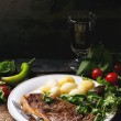 Grilled steak with potatoes — Stock Photo #55597523