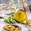 Постер, плакат: Olives and olive oil