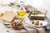 Lunch with olives — Zdjęcie stockowe