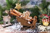 Gingerbread man in slade — Stock Photo