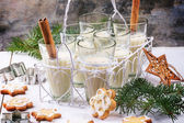 Christmas cookies and cocktail — Stock Photo