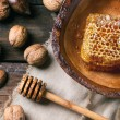 Honeycomb and nuts — Stock Photo #59533965