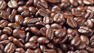 Rotating coffee beans — Stock Video