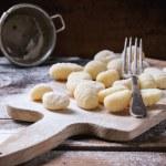 Uncooked potato gnocchi — Stock Photo #65600971
