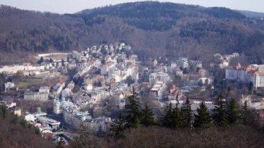 Panoramic view of Carlsbad (Karlovy Vary) Czech Republic — Stock Video
