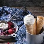 Ice cream in wafer cones — Stock Photo #69806777