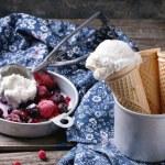 Ice cream in wafer cones — Stock Photo #70375793